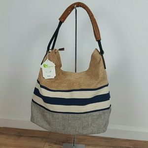 Handbags - HANDBAG REPUBLIC.  STRIPE  BEACH BAG NWT